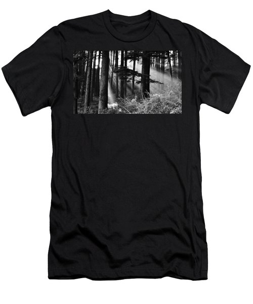 Men's T-Shirt (Slim Fit) featuring the photograph Light Through The Trees by Don Schwartz
