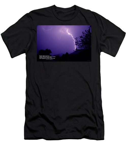Lightning Over The Rogue Valley Men's T-Shirt (Athletic Fit)