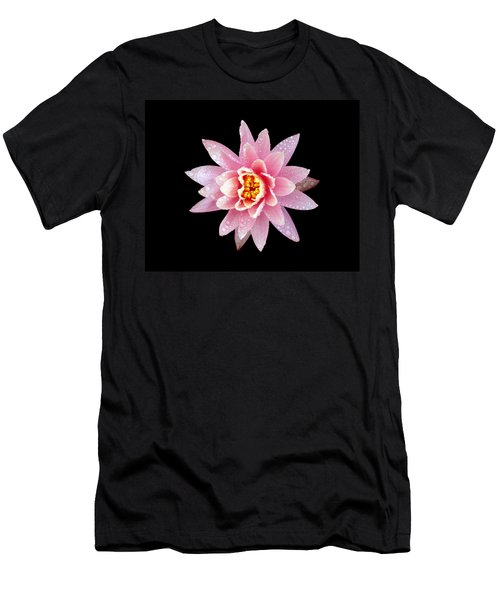 Lily On Black Men's T-Shirt (Athletic Fit)
