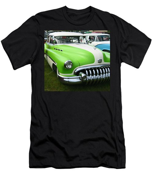 Lime Green 1950s Buick Men's T-Shirt (Slim Fit) by Kym Backland