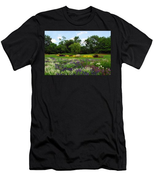 Lincoln Park Gardens Men's T-Shirt (Slim Fit) by Lynn Bauer