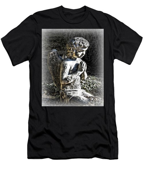 Little Angel Statue Men's T-Shirt (Slim Fit) by Danuta Bennett
