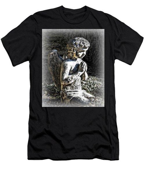 Little Angel Statue Men's T-Shirt (Athletic Fit)