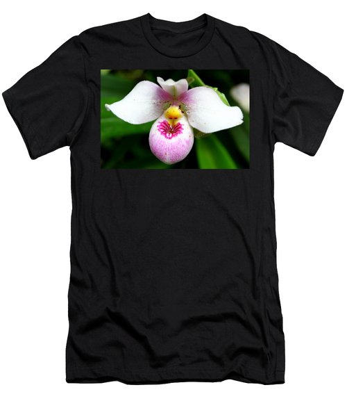 Little White And Pink Orchid Men's T-Shirt (Athletic Fit)