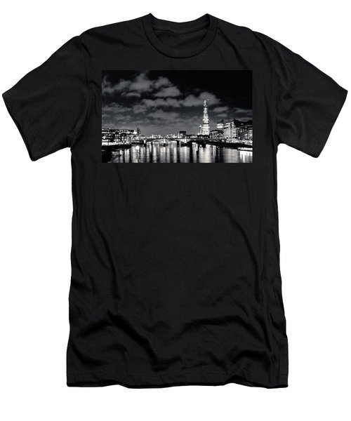 London Lights At Night Men's T-Shirt (Athletic Fit)