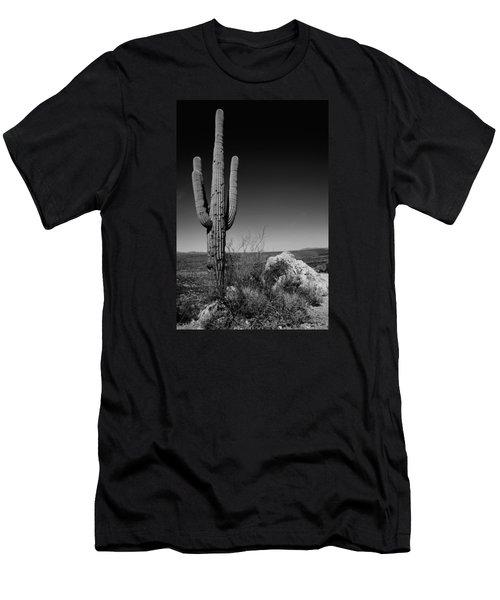 Lone Saguaro Men's T-Shirt (Athletic Fit)
