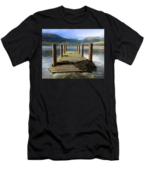 Men's T-Shirt (Slim Fit) featuring the photograph Long Walk Off A Short Pier by Lynn Bolt