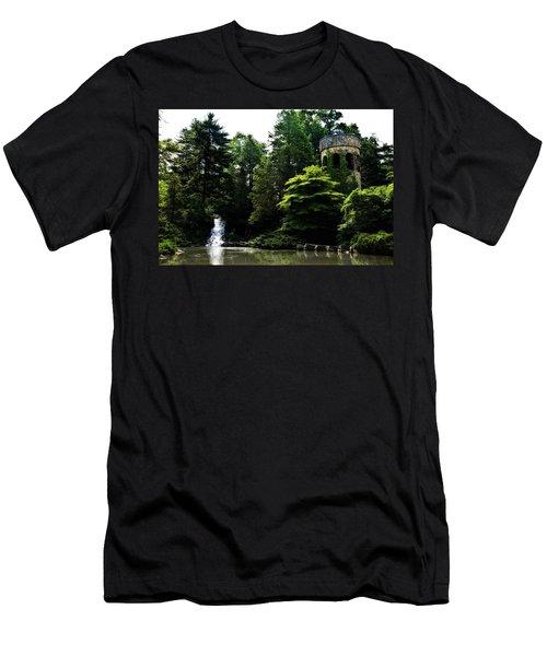 Longwood Garden Castle Men's T-Shirt (Athletic Fit)