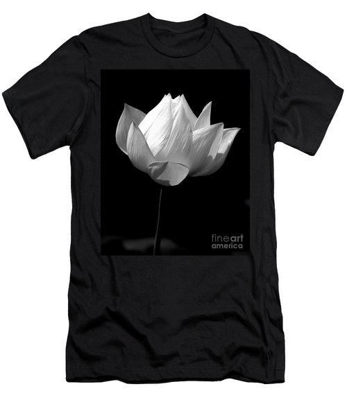 Lotus Bw Men's T-Shirt (Athletic Fit)