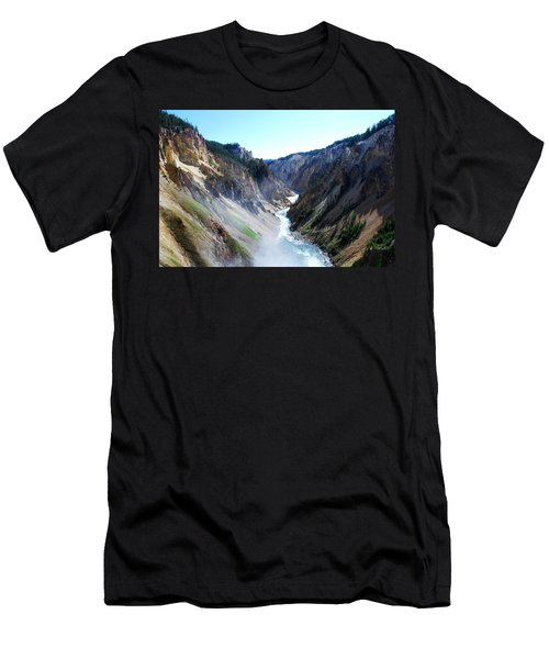 Lower Falls - Yellowstone Men's T-Shirt (Athletic Fit)