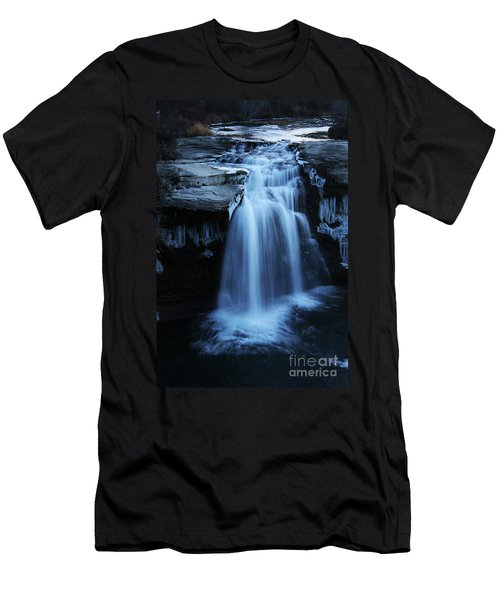 Lundbreck Falls Men's T-Shirt (Slim Fit) by Alyce Taylor
