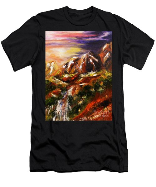 Magical Morn Men's T-Shirt (Slim Fit) by Karen  Ferrand Carroll