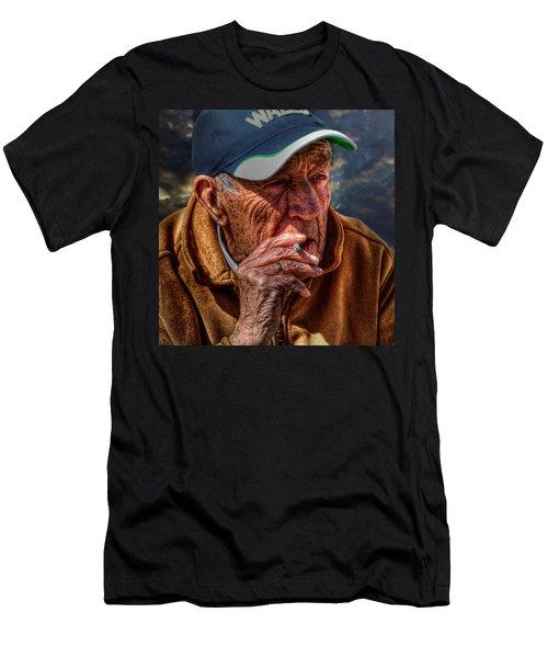 Man Smoking Men's T-Shirt (Athletic Fit)
