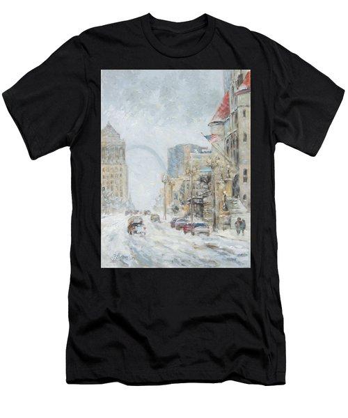 Market Street In Winter In St.louis Men's T-Shirt (Athletic Fit)