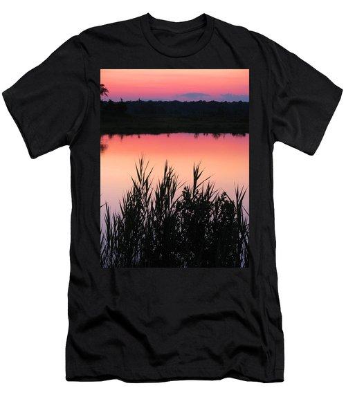 Men's T-Shirt (Slim Fit) featuring the photograph Marsh Sunset by Clara Sue Beym