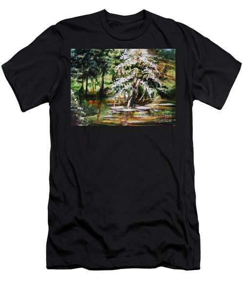 Men's T-Shirt (Slim Fit) featuring the painting Marsh Tide by Karen  Ferrand Carroll
