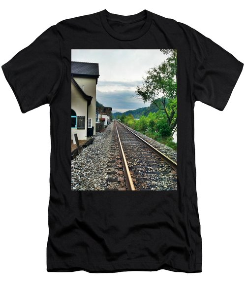 Men's T-Shirt (Slim Fit) featuring the photograph Marshall Nc by Janice Spivey
