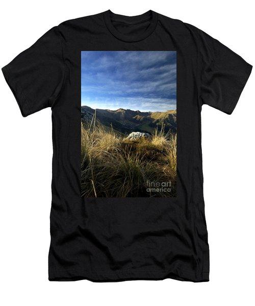 Massif Of Sancy In Auvergne. France Men's T-Shirt (Athletic Fit)