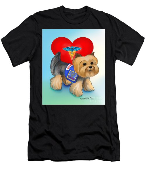 Medical Alert Yorkie Men's T-Shirt (Athletic Fit)