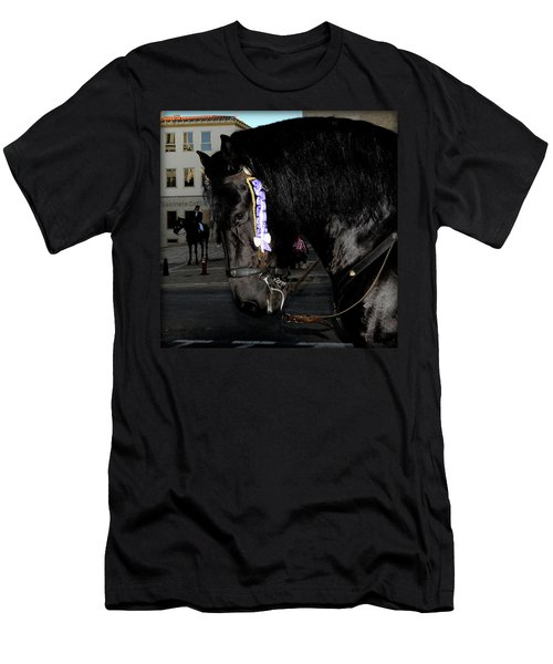 Men's T-Shirt (Slim Fit) featuring the photograph Menorca Horse 2 by Pedro Cardona