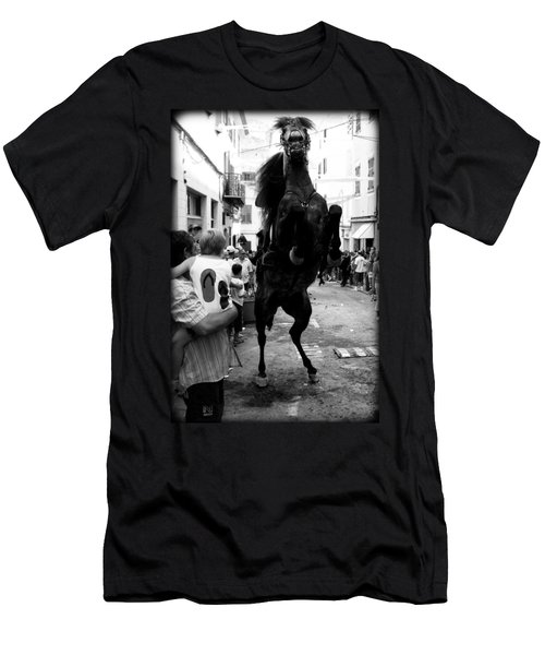 Men's T-Shirt (Slim Fit) featuring the photograph Menorca Horse 3 by Pedro Cardona