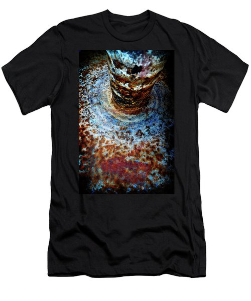 Men's T-Shirt (Slim Fit) featuring the photograph Metallic Fluid by Pedro Cardona
