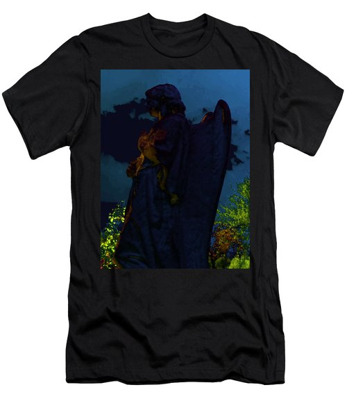 Midnight Angel Men's T-Shirt (Slim Fit) by Lisa Brandel