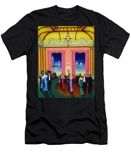 Midnight In Manhattan Men's T-Shirt (Slim Fit) by Tracy Dennison