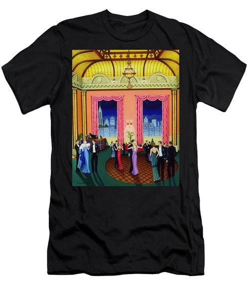 Midnight In Manhattan Men's T-Shirt (Athletic Fit)