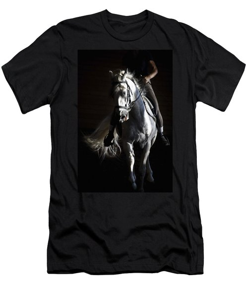 Men's T-Shirt (Slim Fit) featuring the photograph Midnight Ride by Wes and Dotty Weber