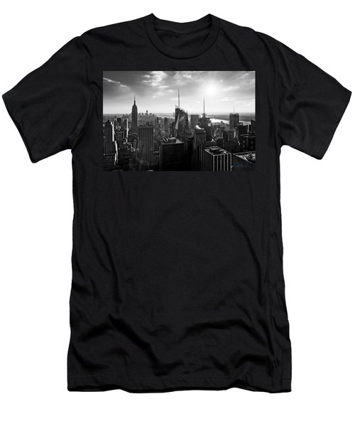 Midtown Skyline Infrared Men's T-Shirt (Athletic Fit)