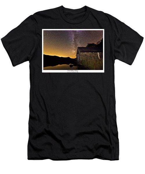 Milky Way Above The Old Boathouse Men's T-Shirt (Athletic Fit)