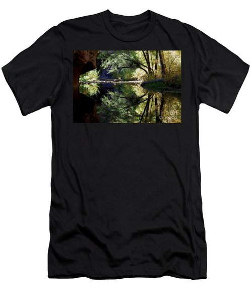 Men's T-Shirt (Slim Fit) featuring the photograph Mirror Reflection by Tam Ryan