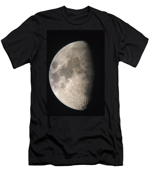 Men's T-Shirt (Slim Fit) featuring the photograph Moon Against The Black Sky by John Short