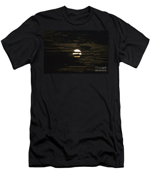 Men's T-Shirt (Slim Fit) featuring the photograph Moon Behind The Clouds by William Norton