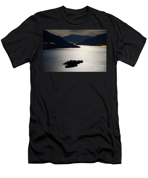 Moon Light Over Islands Men's T-Shirt (Athletic Fit)