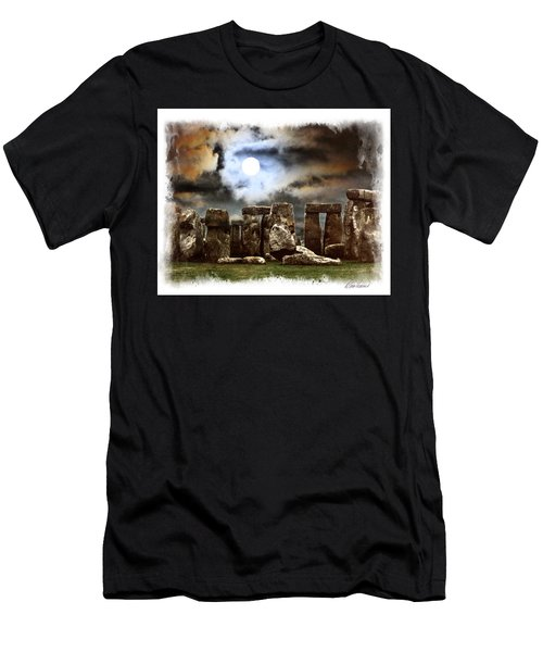 Moon Over Stonehenge Men's T-Shirt (Athletic Fit)