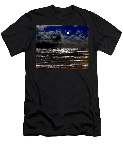 Moon Over The Pacific Men's T-Shirt (Athletic Fit)