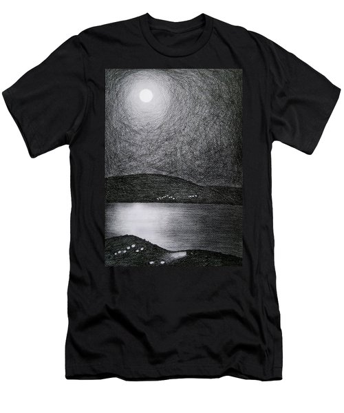 Moon Reflection On The Sea Men's T-Shirt (Athletic Fit)