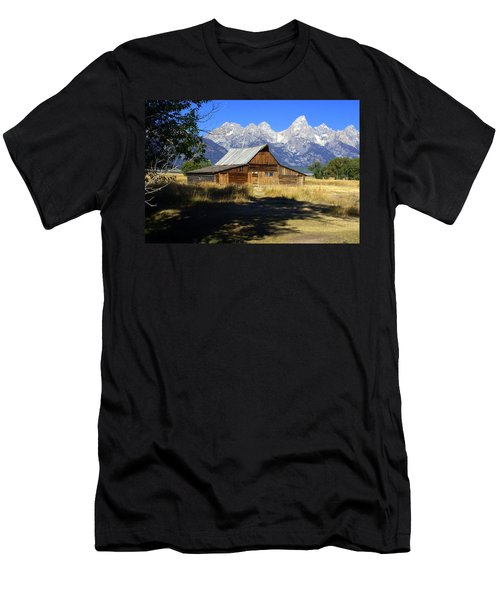 Men's T-Shirt (Slim Fit) featuring the photograph Mormon Row Barn by Marty Koch