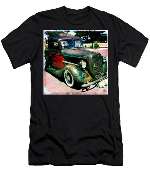 Men's T-Shirt (Slim Fit) featuring the photograph Morning Glory Coal Truck by Nina Prommer
