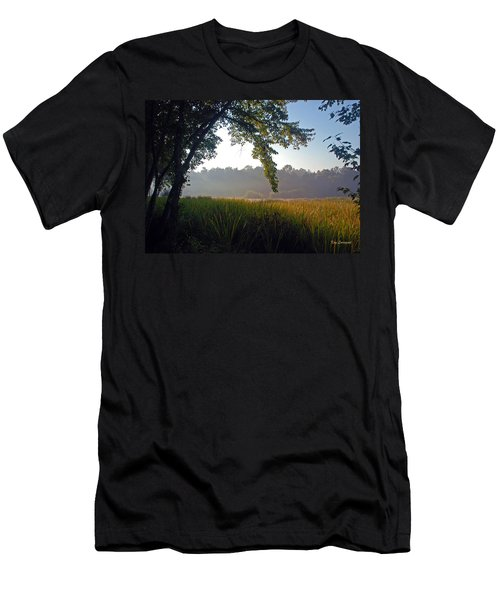 Men's T-Shirt (Slim Fit) featuring the photograph Morning On The River by Kay Lovingood