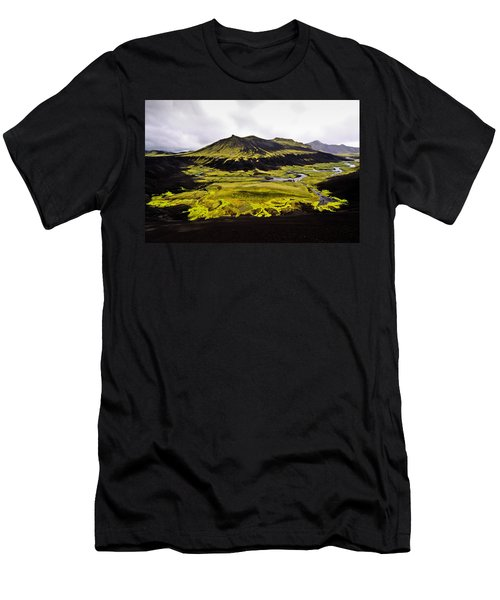 Moss In Iceland Men's T-Shirt (Athletic Fit)