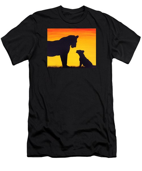 Men's T-Shirt (Slim Fit) featuring the painting Mother Africa 3 by Michael Cross