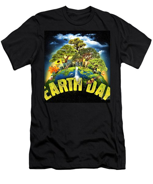 Mother Earth Men's T-Shirt (Slim Fit) by Pg Reproductions