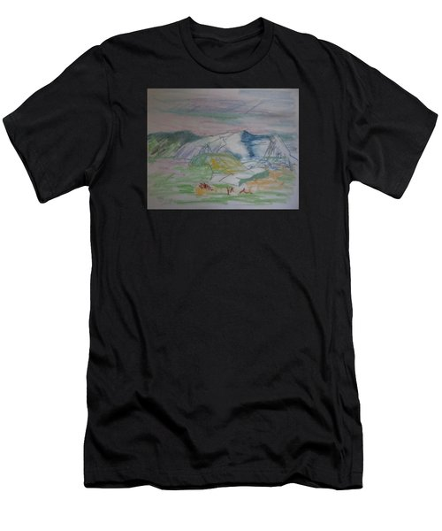Mount Desert Back Side Men's T-Shirt (Athletic Fit)