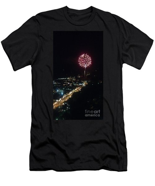 Men's T-Shirt (Slim Fit) featuring the photograph Mountain Fireworks by Janice Spivey