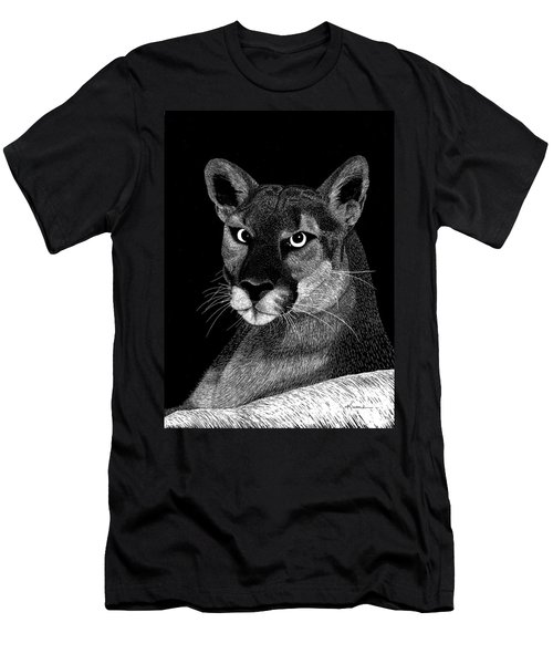 Mountain Lion Men's T-Shirt (Slim Fit) by Kume Bryant