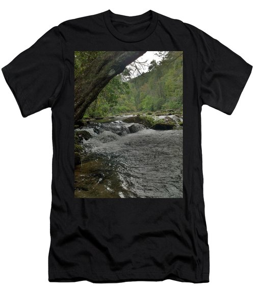 Men's T-Shirt (Slim Fit) featuring the photograph Mountain Stream by Janice Spivey