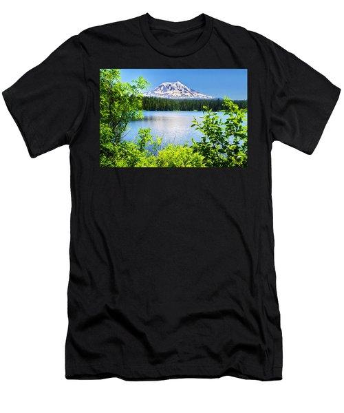 Mt Adams And Takhlakh Lake Men's T-Shirt (Athletic Fit)